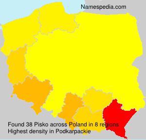 Surname Pisko in Poland