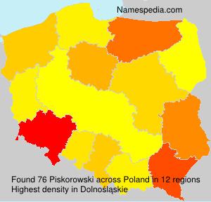 Familiennamen Piskorowski - Poland