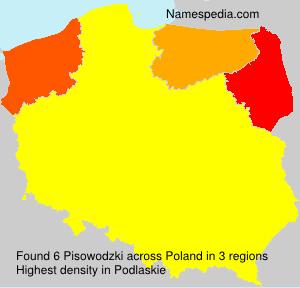 Familiennamen Pisowodzki - Poland