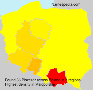 Surname Piszczor in Poland