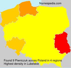 Surname Piwniczuk in Poland