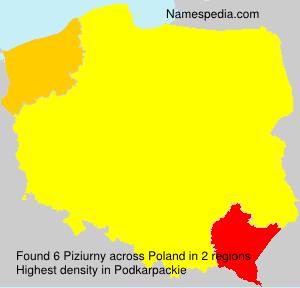 Surname Piziurny in Poland
