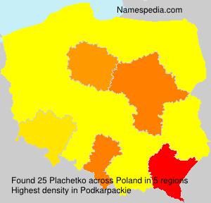 Familiennamen Plachetko - Poland