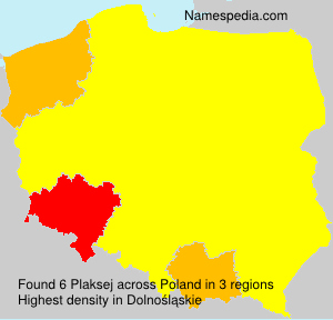 Surname Plaksej in Poland