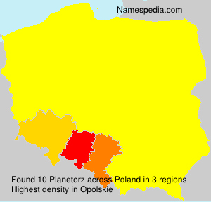 Familiennamen Planetorz - Poland