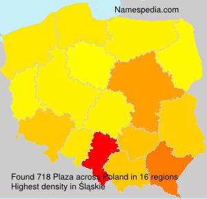 Surname Plaza in Poland