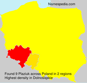 Surname Plaziuk in Poland