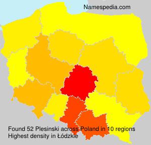 Surname Plesinski in Poland