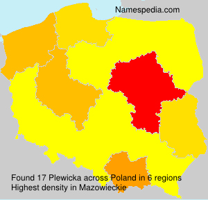 Surname Plewicka in Poland