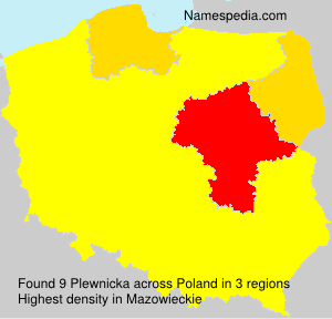 Surname Plewnicka in Poland