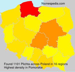 Surname Plichta in Poland