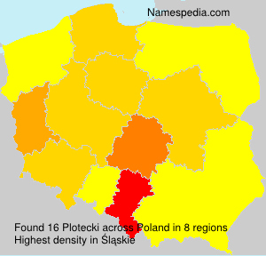 Surname Plotecki in Poland