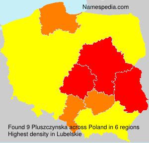 Surname Pluszczynska in Poland