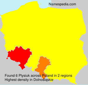 Surname Plysiuk in Poland