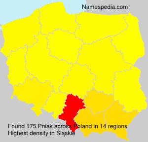 Familiennamen Pniak - Poland