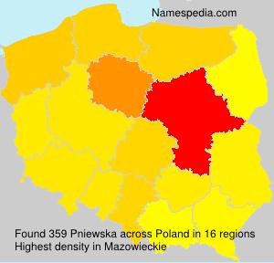 Familiennamen Pniewska - Poland