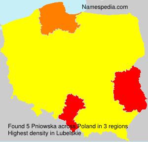 Familiennamen Pniowska - Poland