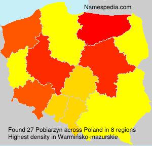 Surname Pobiarzyn in Poland