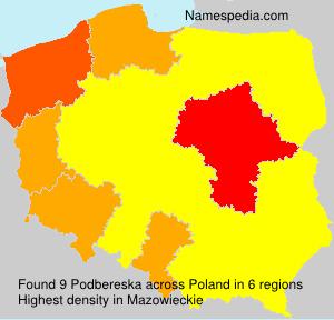 Familiennamen Podbereska - Poland