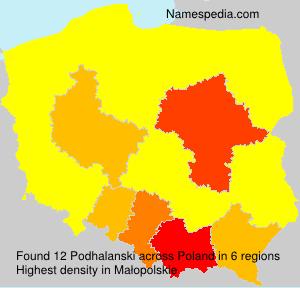 Surname Podhalanski in Poland
