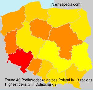 Familiennamen Podhorodecka - Poland