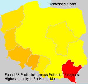 Surname Podkalicki in Poland