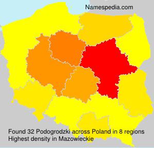 Surname Podogrodzki in Poland
