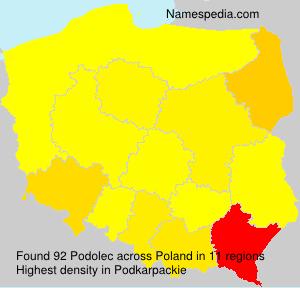 Surname Podolec in Poland