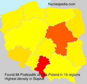 Surname Podsiadlik in Poland