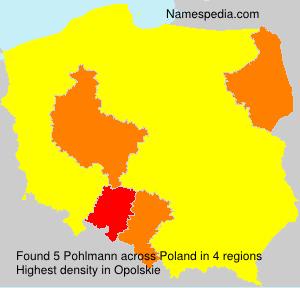 Surname Pohlmann in Poland