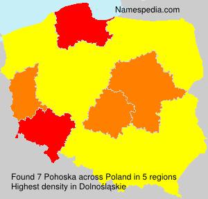 Surname Pohoska in Poland