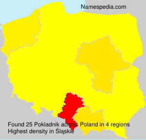 Surname Pokladnik in Poland