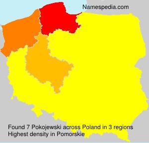 Familiennamen Pokojewski - Poland