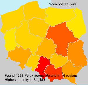 Surname Polak in Poland