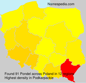 Surname Pondel in Poland
