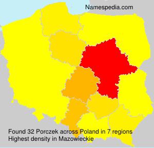 Surname Porczek in Poland