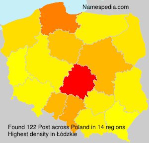 Surname Post in Poland
