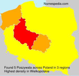 Surname Poszywala in Poland