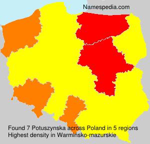 Surname Potuszynska in Poland
