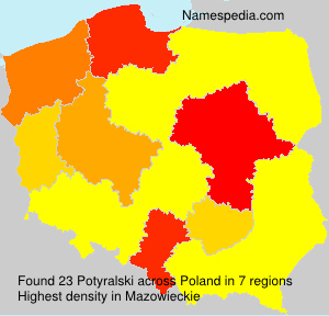 Familiennamen Potyralski - Poland