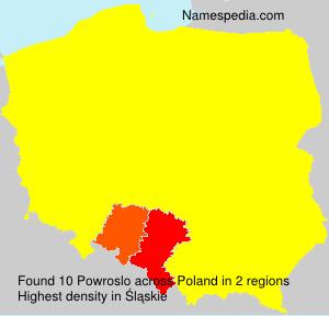 Surname Powroslo in Poland