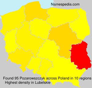 Familiennamen Pozarowszczyk - Poland