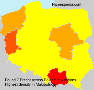 Familiennamen Precht - Poland