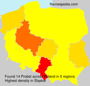 Surname Probst in Poland