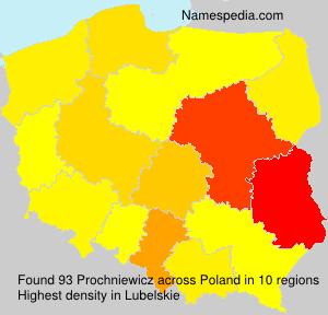 Surname Prochniewicz in Poland