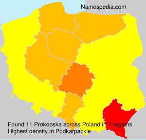 Familiennamen Prokopska - Poland
