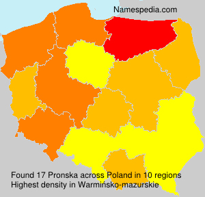 Surname Pronska in Poland