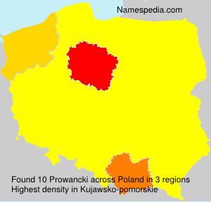Surname Prowancki in Poland
