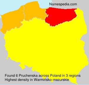 Surname Pruchenska in Poland