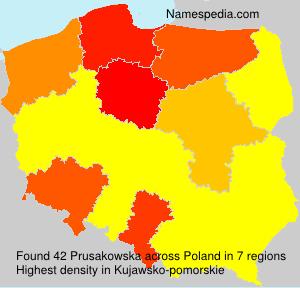 Surname Prusakowska in Poland